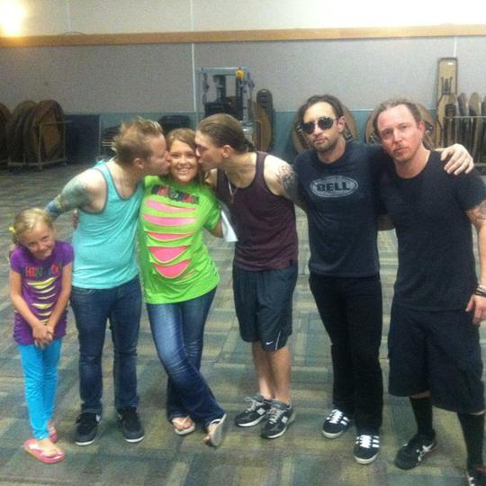 Paige and i with shinedown in davenport ia at the adler theater paige and i with shinedown in davenport ia at the adler theater m4hsunfo